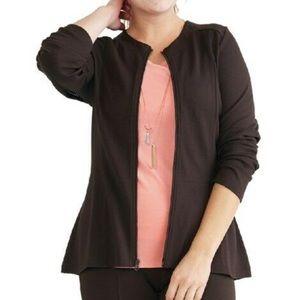 Ruby Ribbon Ponte Jacket XXL